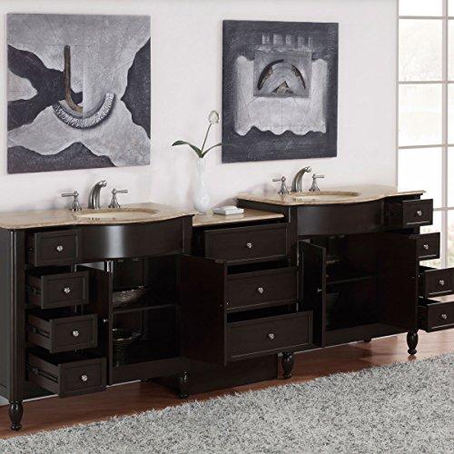 Silkroad-Exclusive-Countertop-Travertine-Double-Sink-Bathroom-Vanity-with-Cabinet-95-Inch-0-1