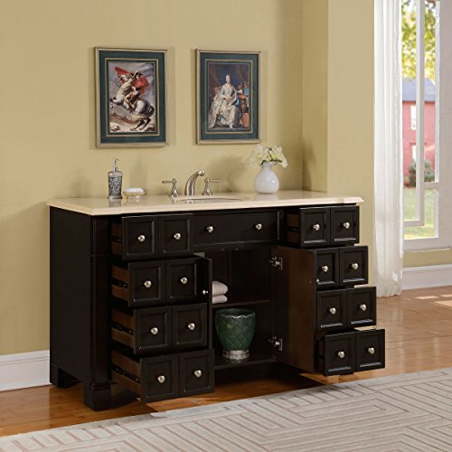 Silkroad-Exclusive-Marble-Top-Single-Sink-Bathroom-Vanity-with-Dark-Walnut-Finish-Cabinet-60-Inch-0-1