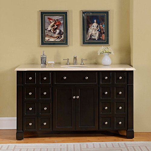 Silkroad-Exclusive-Marble-Top-Single-Sink-Bathroom-Vanity-with-Dark-Walnut-Finish-Cabinet-60-Inch-0
