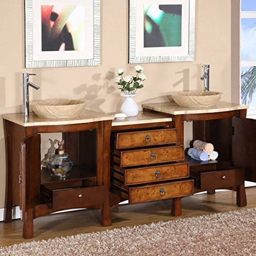 Silkroad-Exclusive-Travertine-Stone-Top-Modern-Double-Sink-Vessel-Bathroom-Vanity-72-Inch-0-0