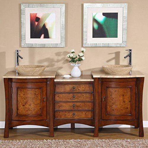 Silkroad-Exclusive-Travertine-Stone-Top-Modern-Double-Sink-Vessel-Bathroom-Vanity-72-Inch-0