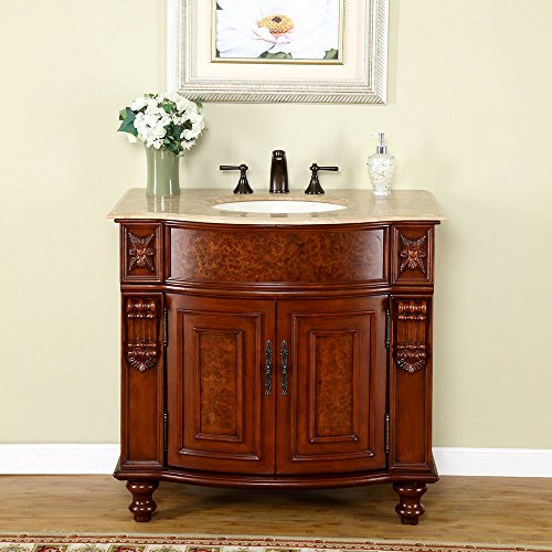 Silkroad-Exclusive-Travertine-Stone-Top-Single-Sink-Bathroom-Vanity-with-Cherry-Finish-Cabinet-36-Inch-0