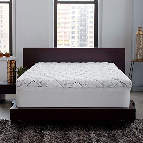 Sleep-Innovations-Instant-Pillow-Top-Memory-Foam-and-Fiber-Hybrid-Mattress-Topper-0