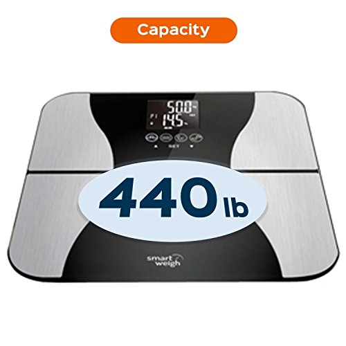Smart-Weigh-Digital-Body-Fat-Weight-Scale-with-Tempered-Glass-440-pounds-Black-0-0