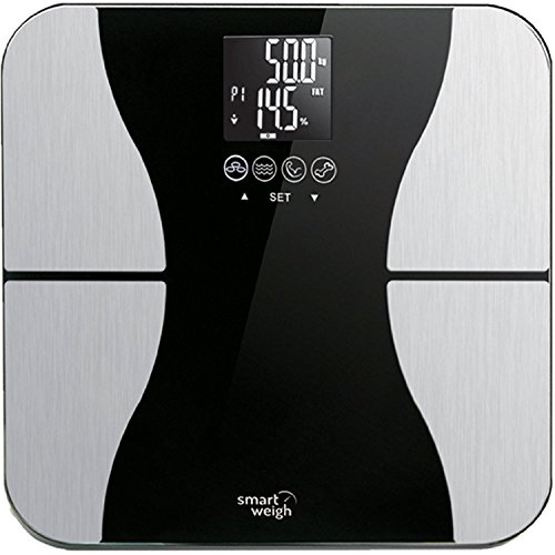 Smart-Weigh-Digital-Body-Fat-Weight-Scale-with-Tempered-Glass-440-pounds-Black-0