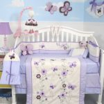 SoHo-Lavender-Flower-Garden-Baby-Crib-Nursery-Bedding-Set-13-pcs-included-Diaper-Bag-with-Changing-Pad-Bottle-Case-0