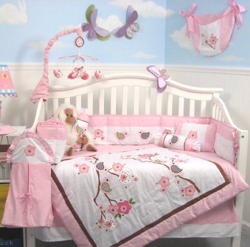 SoHo-Love-Birds-Story-Baby-Crib-Nursery-Bedding-Set-13-pcs-included-Diaper-Bag-with-Changing-Pad-Bottle-Case-0
