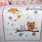 SoHo-Pink-Dancing-Owl-Baby-Crib-Nursery-Bedding-Set-with-Diaper-bag-14-pcs-set-0-0