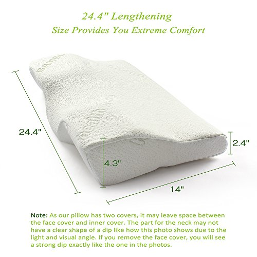 Soft-Memory-Foam-Bamboo-Sleeping-Pillow-244x14x4-Orthopedic-innovative-Sleep-Better-Pillow-for-Neck-Pain-Relief-Cervical-Contour-Bed-Pillow-for-Back-and-Side-Sleepers-0-0