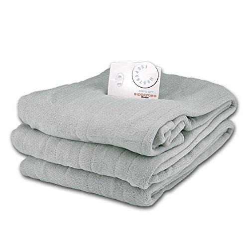 Soft-Microplush-Queen-Size-Electric-Heated-Blanket-by-Biddeford-Seafoam-Green-0