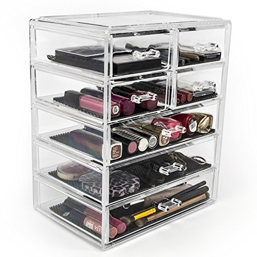 Sorbus-Acrylic-Cosmetics-Makeup-and-Jewelry-Storage-Case-Display-3-Large-and-4-Small-Drawers-Space-Saving-Stylish-Acrylic-Bathroom-Case-0-0