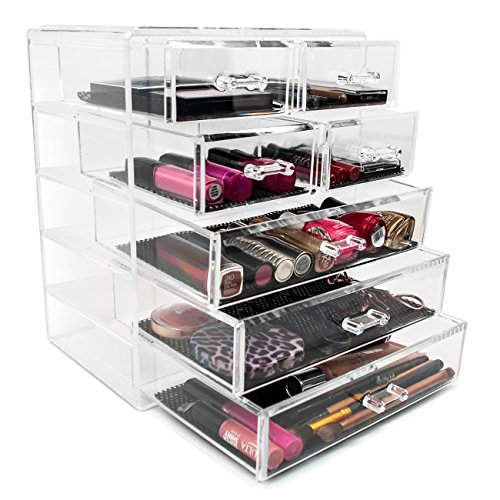 Sorbus-Acrylic-Cosmetics-Makeup-and-Jewelry-Storage-Case-Display-3-Large-and-4-Small-Drawers-Space-Saving-Stylish-Acrylic-Bathroom-Case-0