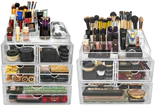 Sorbus-Acrylic-Cosmetics-Makeup-and-Jewelry-Storage-Case-X-Large-Display-Sets-Interlocking-Scoop-Drawers-to-Create-Your-Own-Specially-Designed-Makeup-Counter-Stackable-and-Interchangeable-0