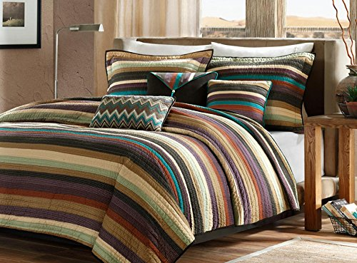 Southwest-Turquoise-Native-American-King-Quilt-Shams-Toss-Pillows-6-Piece-Bed-In-A-Bag-0