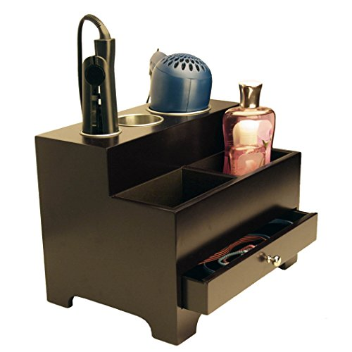 Stock-Your-Home-Personal-Espresso-Hair-Styling-Organizer-0-0