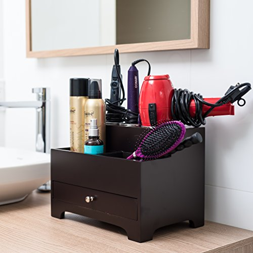 Stock-Your-Home-Personal-Espresso-Hair-Styling-Organizer-0-1