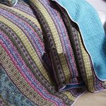 Striped-Jacquard-Style-3-Piece-Patchwork-BedspreadQuilt-Sets-100-CottonQueen-0-0