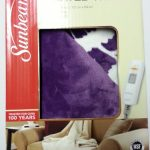 Sunbeam-Electric-Heated-Throw-Blanket-Microplush-Washable-3-Heat-Setting-Auto-Off-Purple-Floral-0