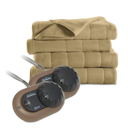 Sunbeam-Heated-Electric-Blanket-Royal-Dreams-Quilted-Fleece-Queen-Acorn-0