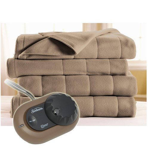 Sunbeam-Heated-Electric-Blanket-Royal-Dreams-Quilted-Fleece-Twin-Mushroom-0