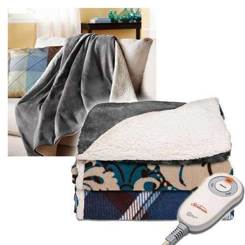 Sunbeam-Sherpa-Imperial-Plush-Electric-Heated-Throw-Blankets-Assorted-Colors-0