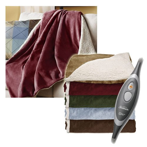 Sunbeam-Sherpa-RoyalMink-Electric-Heated-Throw-Blanket-Assorted-Colors-0