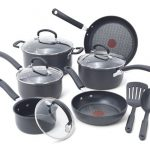 T-fal-E918SH-Ultimate-Hard-Anodized-Durable-Nonstick-Expert-Interior-Thermo-Spot-Heat-Indicator-Anti-Warp-Base-Dishwasher-Safe-PFOA-Free-Oven-Safe-Cookware-Set-17-Piece-Gray-0
