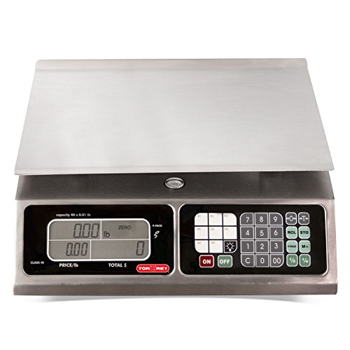 TORREY-LPC40L-Electronic-Price-Computing-Scale-Rechargeable-Battery-Stainless-Steel-Construction-100-Memories-8-Direct-Access-Keys-40-lb-0
