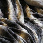 Tache-Brown-Striped-Faux-Fur-Throw-Blanket-0-0