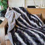 Tache-Brown-Striped-Faux-Fur-Throw-Blanket-0