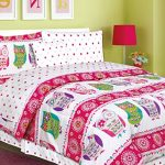 Teen-Tween-Girls-Kids-Bedding-7-and-9-Piece-OWL-Bedding-Twin-and-Full-size-Comforter-Set-with-Matching-Polka-Dot-Sheet-set-Hot-Pink-Turuoise-Purple-Green-and-Grey-0