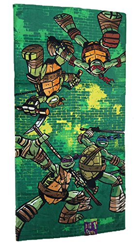 Teenage-Mutant-Ninja-Turtle-Towel-Set-with-Bath-Towel-Hand-Towel-and-6-Wash-Cloths-0-0
