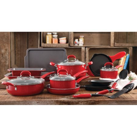 The-Pioneer-Woman-Vintage-Speckle-20-Piece-Cookware-Combo-Set-Red-0