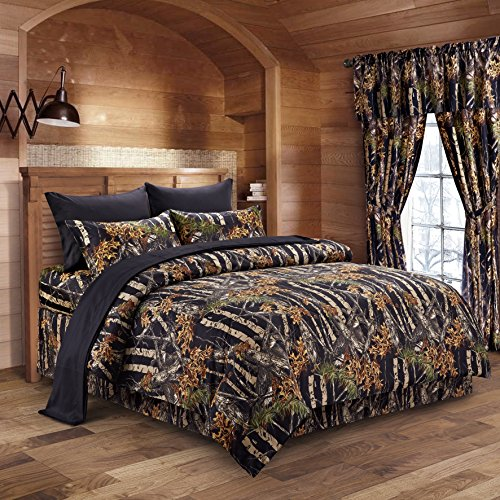The-Woods-Camouflage-Comforter-Set-by-Regal-Comfort-Premium-Luxury-Comforter-Sheet-Pillowcases-and-Bed-Skirt-Set-by-Regal-Comfort-Camo-Bedding-Set-For-Hunters-Cabin-or-Rustic-Lodge-Teens-Boys-and-Girl-0