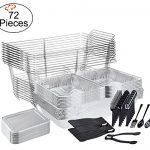 TigerChef-0026-CATERSET-Catering-Set-Serving-Dishes-for-Parties-Includes-Chafer-Pans-Set-and-Disposable-Serving-Utensils-Spoons-and-Tongs-Complete-Party-Serving-Supplies-Pack-of-72-0