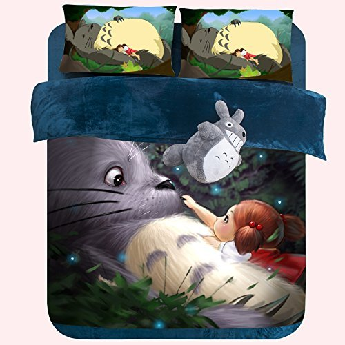 Todaybuy-3d-My-Neighbor-Totoro-Velvet-Bedding-Set3d-Totoro-Duvet-Cover-Set-4-Pcskids-Short-Plush-Coral-Velvet-Bedding-Set-Twin-Queen-King-Size-0