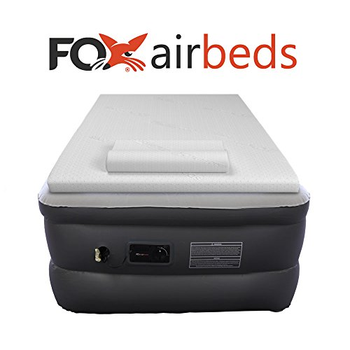 Top-Rated-Fox-Air-Beds-Plush-High-Rise-Inflatable-Air-Mattress-with-Premium-Gel-Memory-Foam-Mattress-Topper-and-Form-Pillows-0