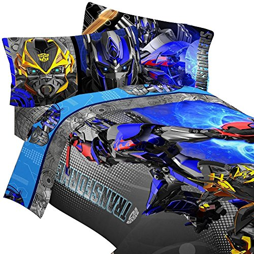 Transformers-Bedding-Set-Optimus-Prime-Alien-Machines-Comforter-and-Sheet-Set-0