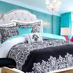 Trendy-Damask-Black-White-Teal-6-Pc-Girl-Comforter-SUPERSET-2-Shams-2-Decorative-Pillows-Home-Style-Brand-Sleep-Mask-Bedding-Set-0