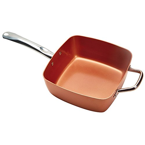 Tristar-Products-4-Piece-Chef-Pan-with-Glass-Lid-Copper-0-0