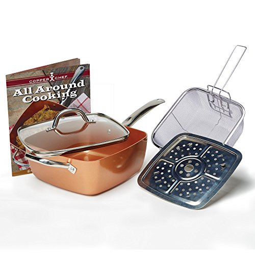 Tristar-Products-4-Piece-Chef-Pan-with-Glass-Lid-Copper-0