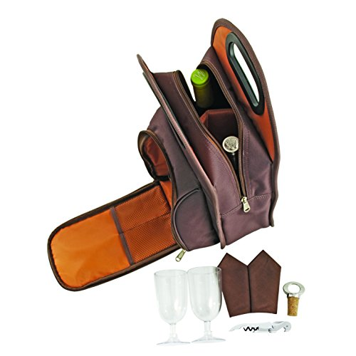 True-by-True-Fabrications-Metropolitan-2-Bottle-Wine-Tote-Includes-2-Wine-Glasses-2-Napkins-1-Corkscrew-1-Bottle-Topper-0-1