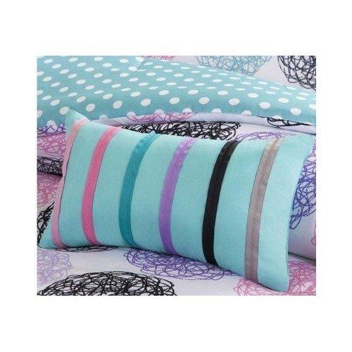 Twin-Xl-Reversible-Comforter-Set-Pink-Teal-Purple-Bedding-Teen-Girls-Pillows-0-1