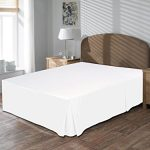 US-Comfort-Zone-800-TC-Bedskirt-King-Size-18Inch-Drop-length-100-Egyptian-Cotton-White-Solid-0