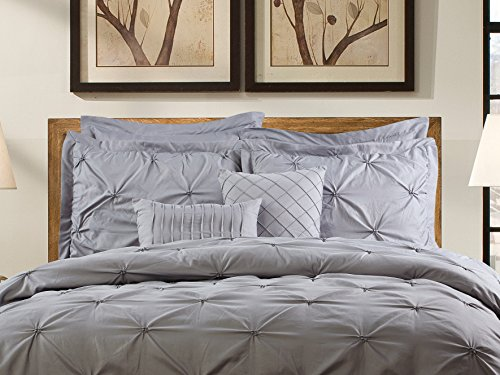 Unique-Home-8-Piece-Reversible-Pinch-Pleat-Comforter-Set-Fade-Resistant-Wrinkle-Free-No-Ironing-Necessary-Super-Soft-Mater-grey-0-1