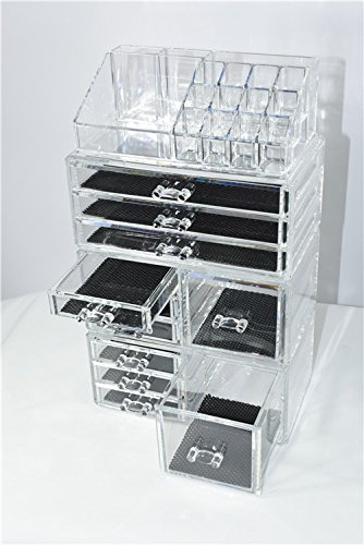 Unique-Home-Acrylic-Jewelry-and-Cosmetic-Storage-Makeup-Organizer-Set-4-Piece-0