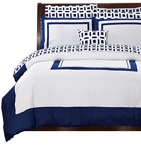 Utopia-Bedding-8-Piece-Bed-In-a-Bag-Blue-0