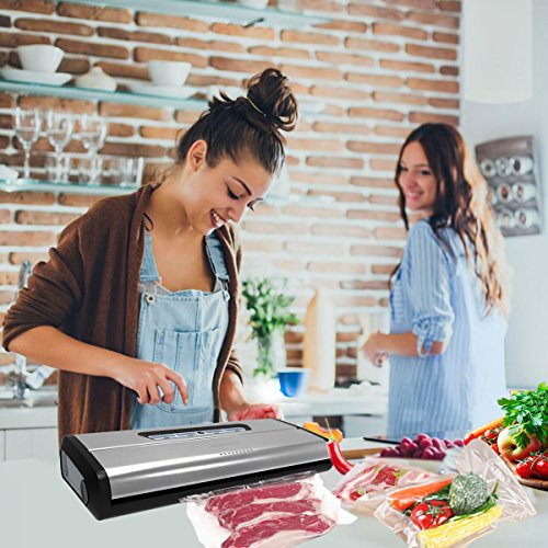 Vacuum-Sealer-VS100S-Crenova-Food-Vacuum-Sealing-System-with-Starter-Kit-Metal-Design-3MM-Sealer-Width-Seal-Indicator-Lights-Manual-Pause-Function-for-Friable-Food-Food-Money-Saver-0-1