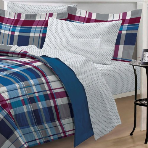 Varsity-Plaid-Ultra-Soft-Microfiber-Comforter-Bedding-Set-Blue-Multi-0-0