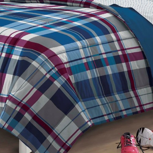 Varsity-Plaid-Ultra-Soft-Microfiber-Comforter-Bedding-Set-Blue-Multi-0-1